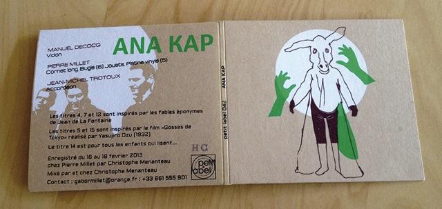 Pochette sérigrahiée pour ANA KAP