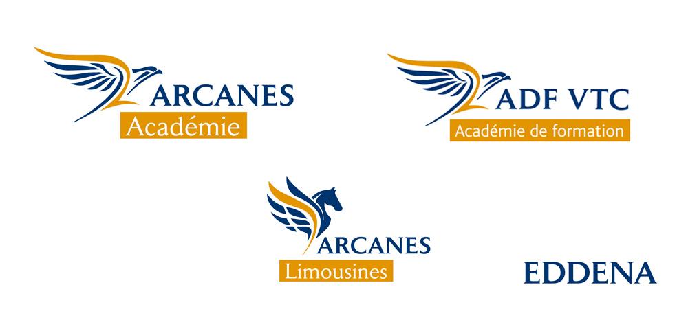 Création d'un système graphique déclinable pour les 3 Logos de la société EDDENA
