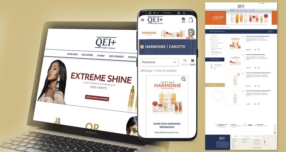 Refonte du site e-commerce QEI +