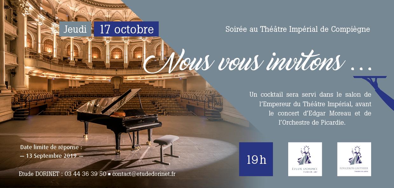 Invitation pour une soirée concert à Compiègne