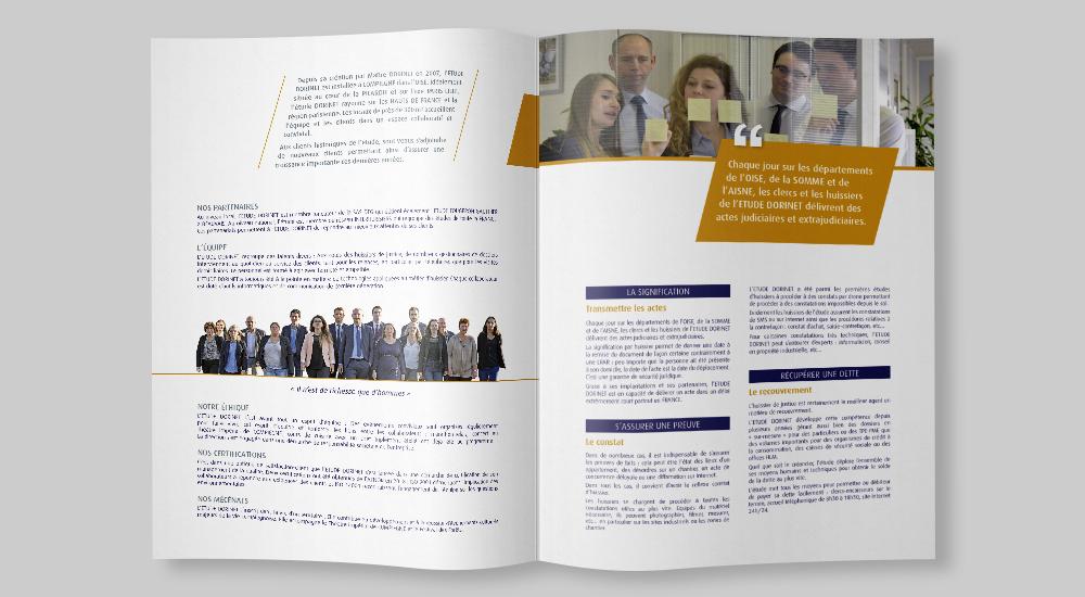 Plaquette 4 pages pour l'ETUDE DORINET