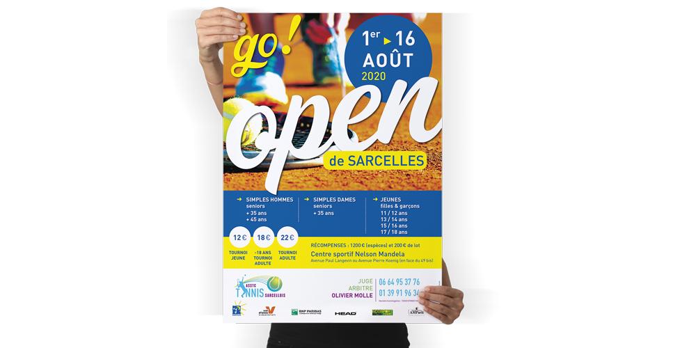 Supports imprimés : Affiche pour l'OPEN de SARCELLES estivales