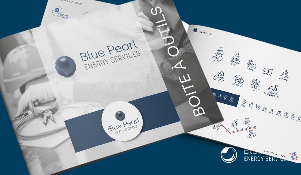Création d'une Boite à outils graphique web et print pour la plateforme Blue Pearl ENERGY SERVICE