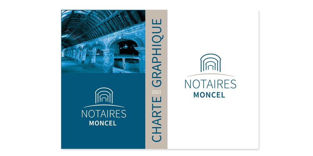 Création d'une charte graphique pour une office notarial Une office située à côté de l'abbaye du MONCEL de PONTPOINT dans l'OISE. Recherches graphiques autour de ce qui caractérise l'abbaye.