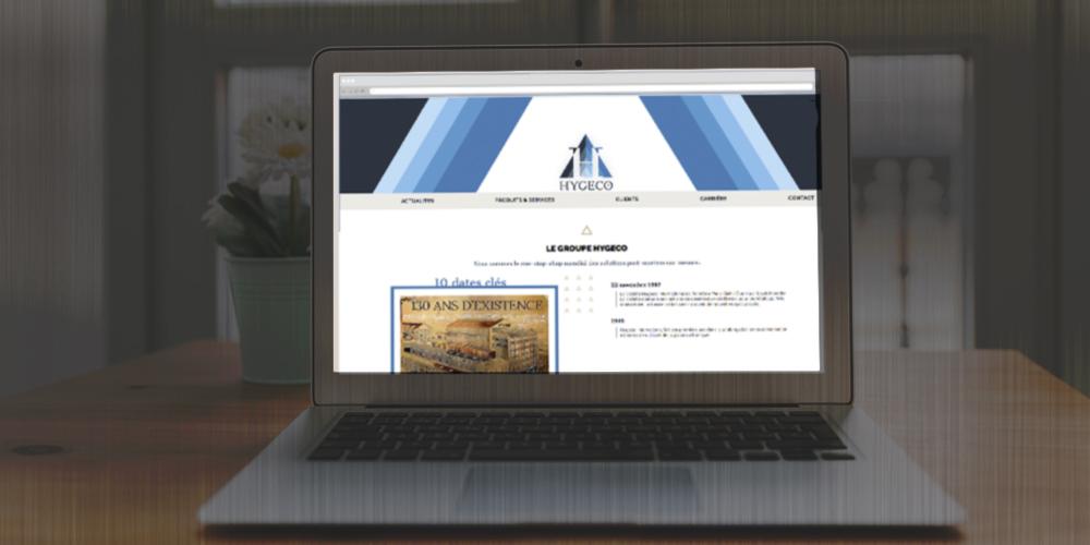 Copie écran du site avant la refonte