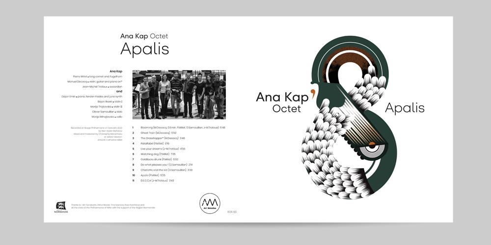 Pochette vinyl pour ANA KAP OCTET